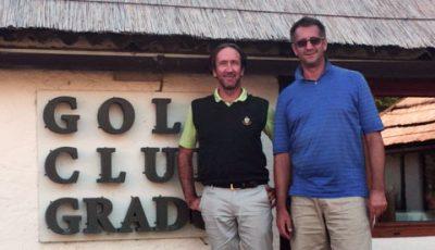Golfclub-Chef Marko Prekic & Gradoguide-Gründer Günther Mathé